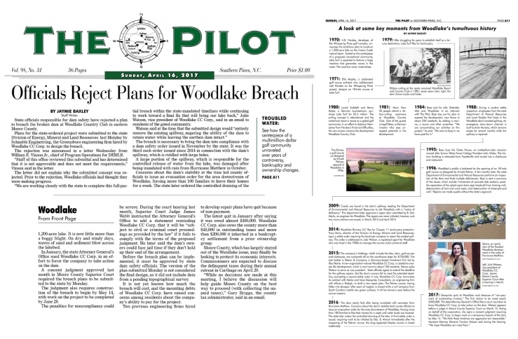 Officials Reject Plans for Woodlake Breach