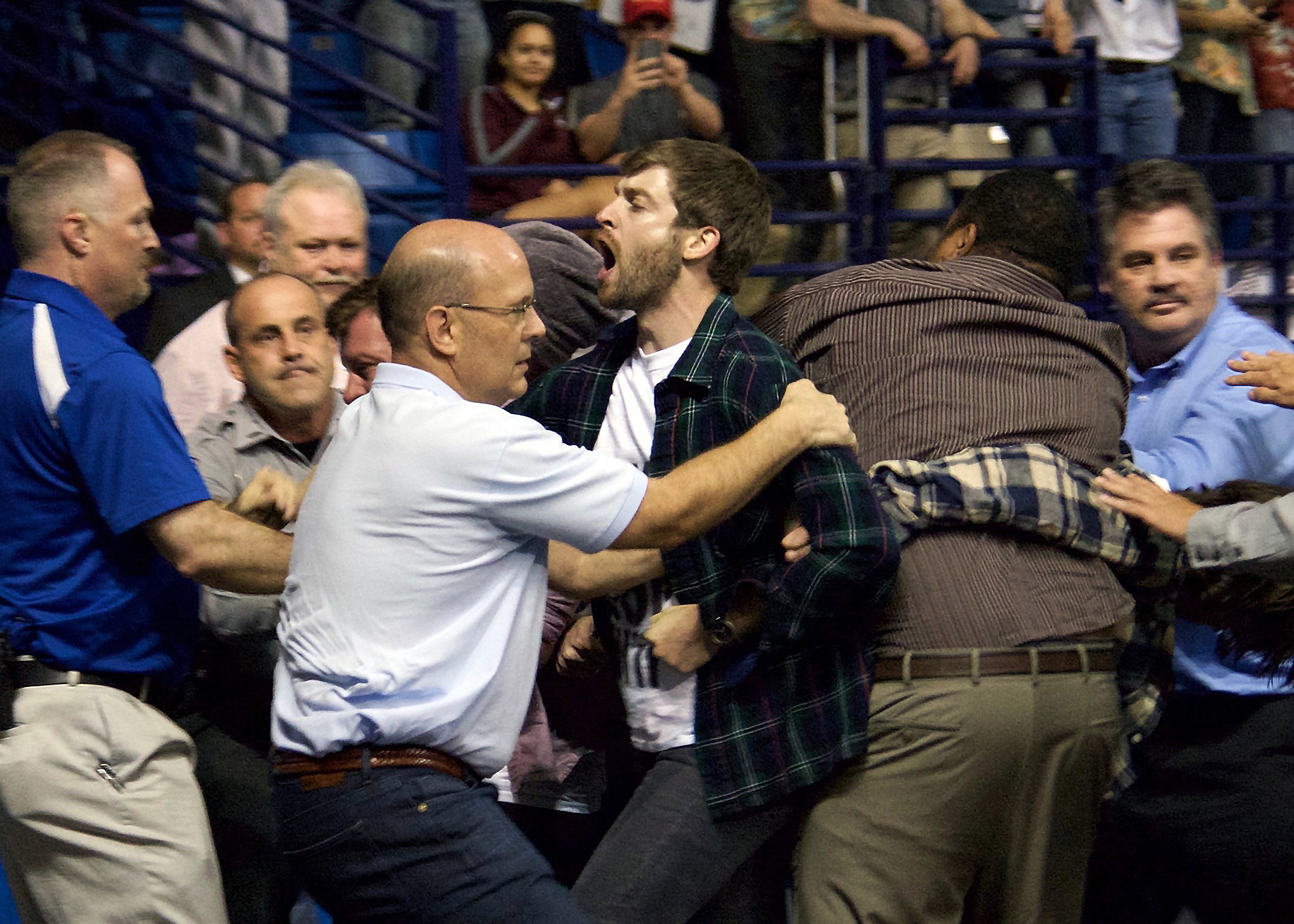 Trump Protester Ejected in Fayetteville