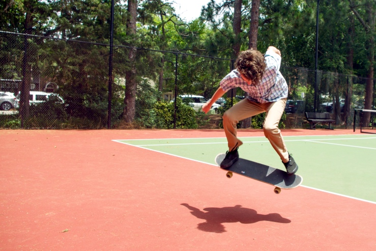Jack Kelley Performs a Skateboard Trick