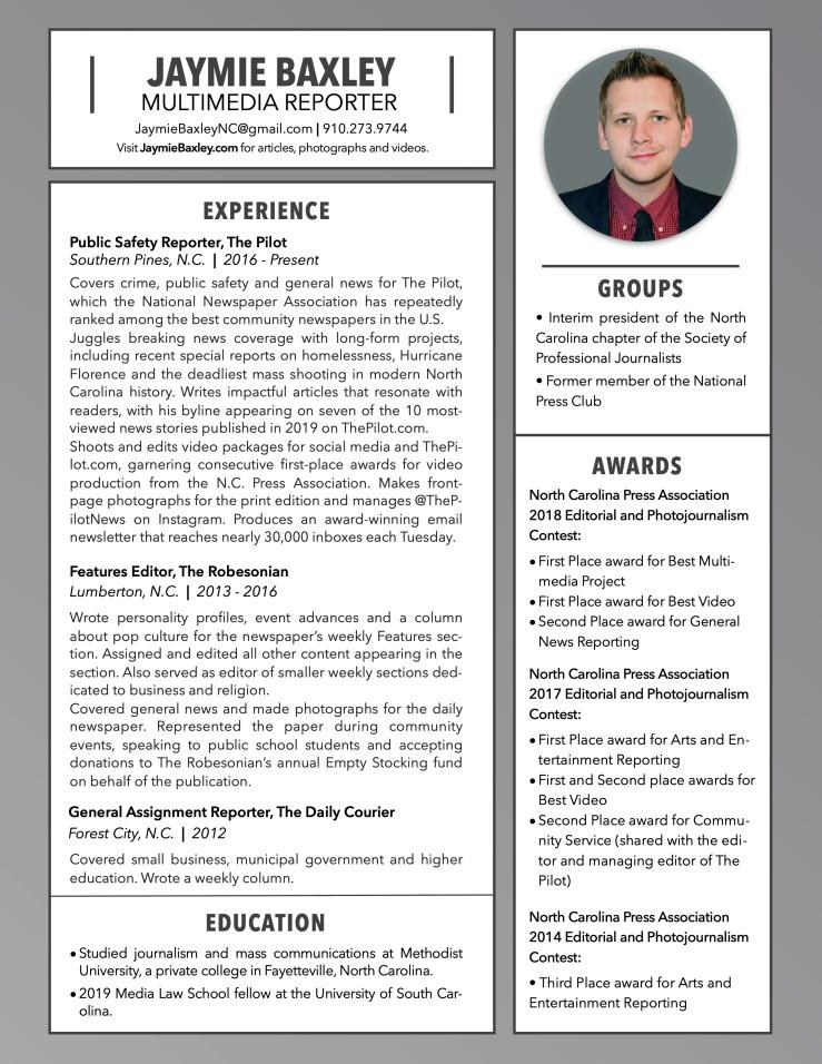 Jaymie Baxley's Résumé